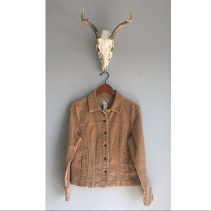 Vintage Tan Corduroy Jacket Medium